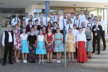 Musiker der Winzerkapelle Kröv vor dem Osterkonzert 2019